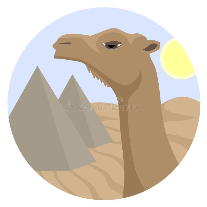 De kameel van het pictogram stock illustratie