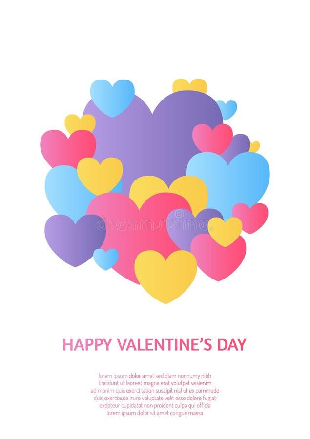 Creatief ontwerpconcept met hart voor de dag van Valentine ` s, Moeder` s dag, groetkaarten of liefdebekentenis vector illustratie