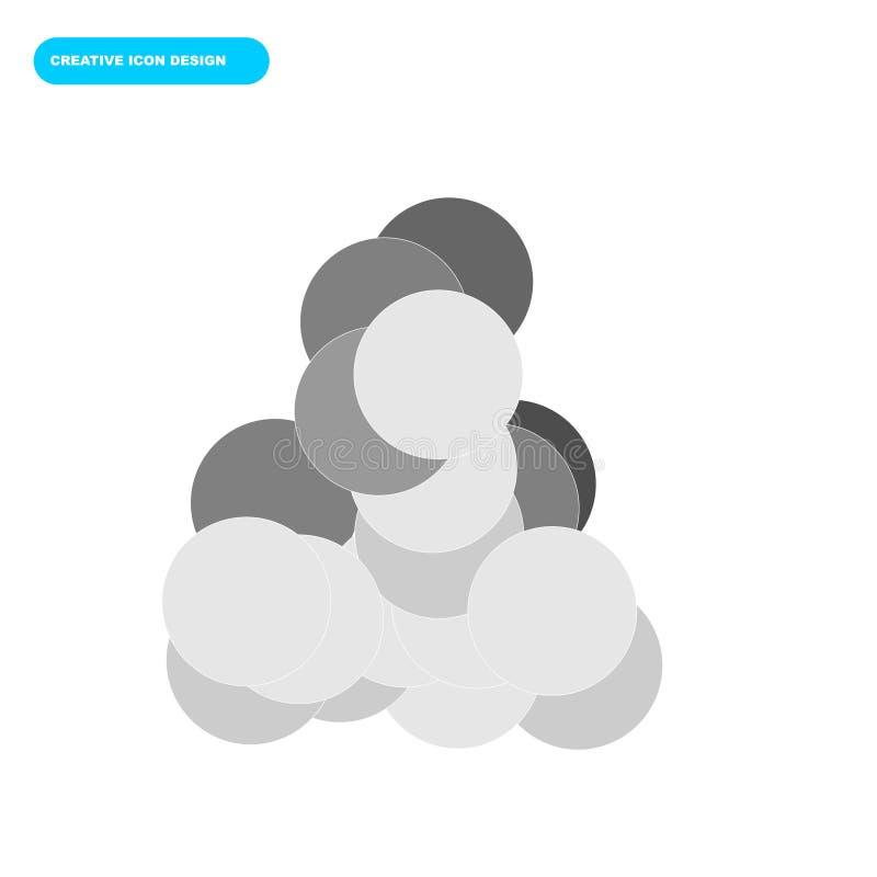 Creatief pictogramontwerp van cirkelvoorwerpen met zacht kleurenconcept royalty-vrije stock foto