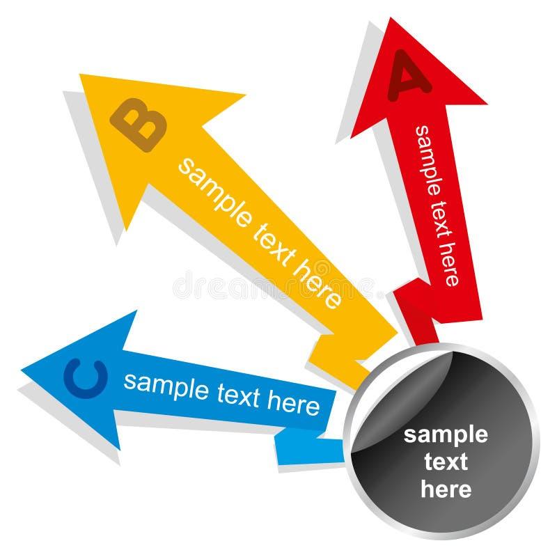 Creatief pijl informatie-grafiek ontwerp stock illustratie
