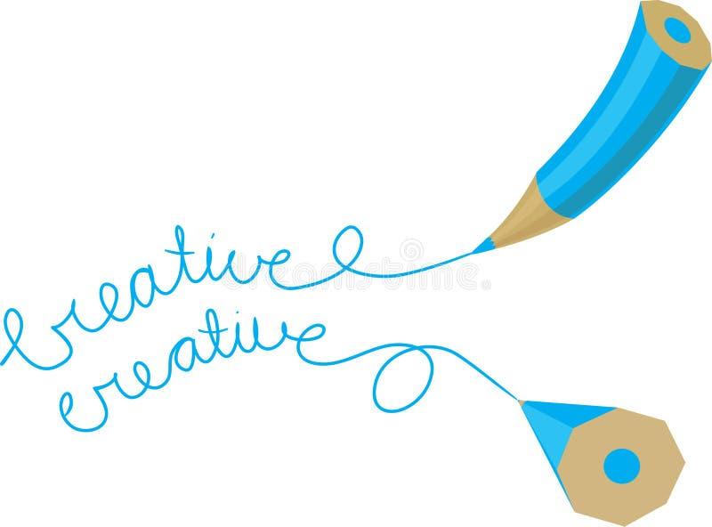 Creatief potlood twee vector illustratie