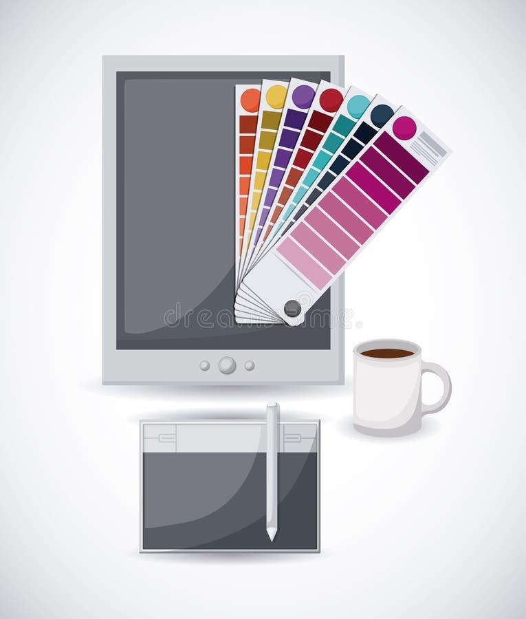 Creatief procesontwerp vector illustratie