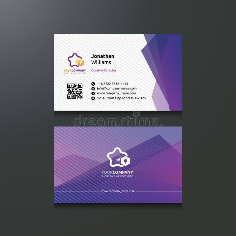 Creatief Purper Adreskaartje vector illustratie