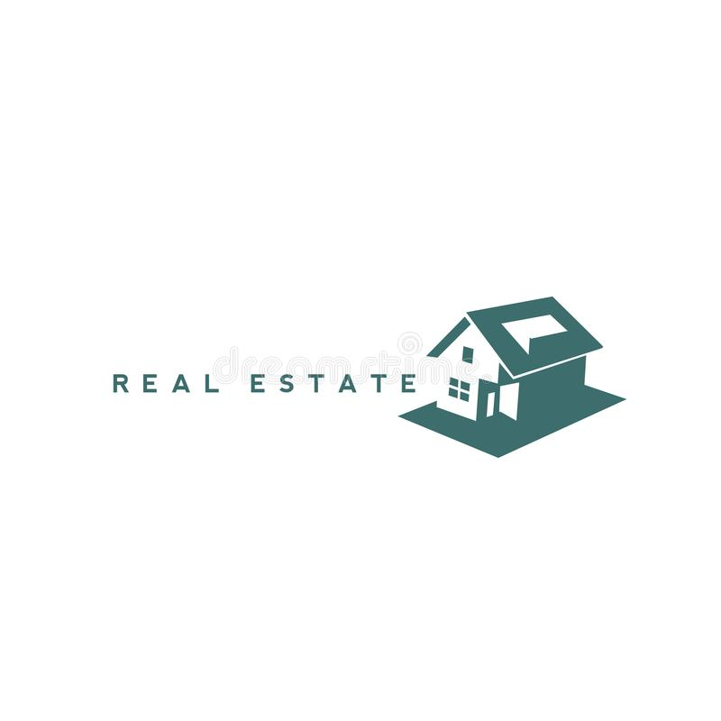 Creatief Real Estate Logo Design royalty-vrije illustratie