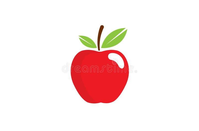 Creatief Rood Apple-Embleem royalty-vrije illustratie