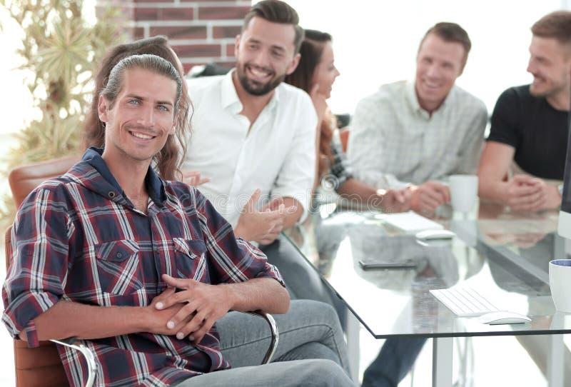 Creatief team op een werkende vergadering royalty-vrije stock fotografie