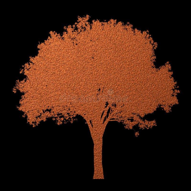 Creatief uniek modern de textuurpatroon van het boomsilhouet op zwarte achtergrond Het element van het ontwerp royalty-vrije illustratie