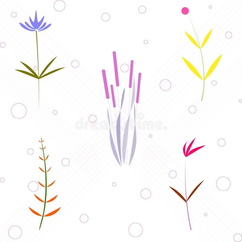Creatief universeel bloemen naadloos patroon Leuke eenvoudige achtergrond Modern grafisch ontwerp Ideaal voor Web, kaart, affiche vector illustratie
