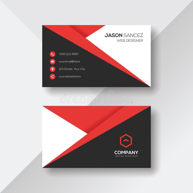 Creatief Visitekaartje met Rode Details vector illustratie