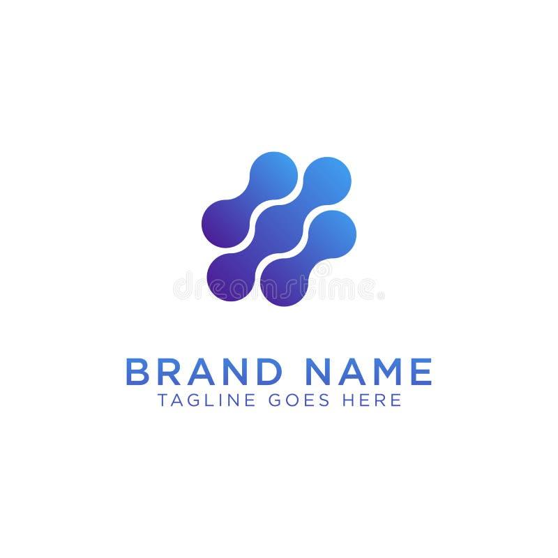 Creatief Vlekconcept Logo Design Template royalty-vrije illustratie
