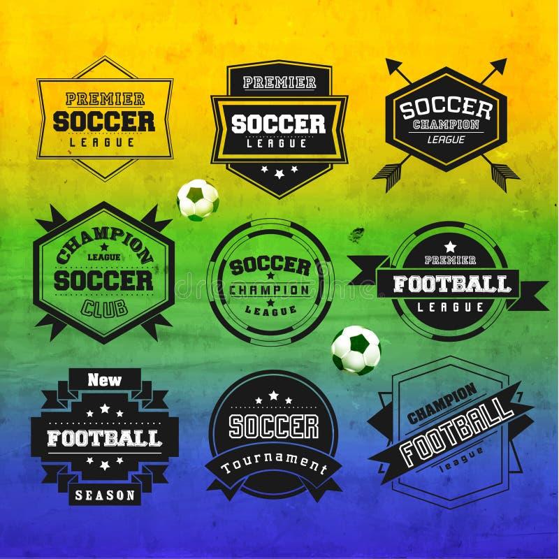 Creatief Voetbal Vectorontwerp royalty-vrije illustratie