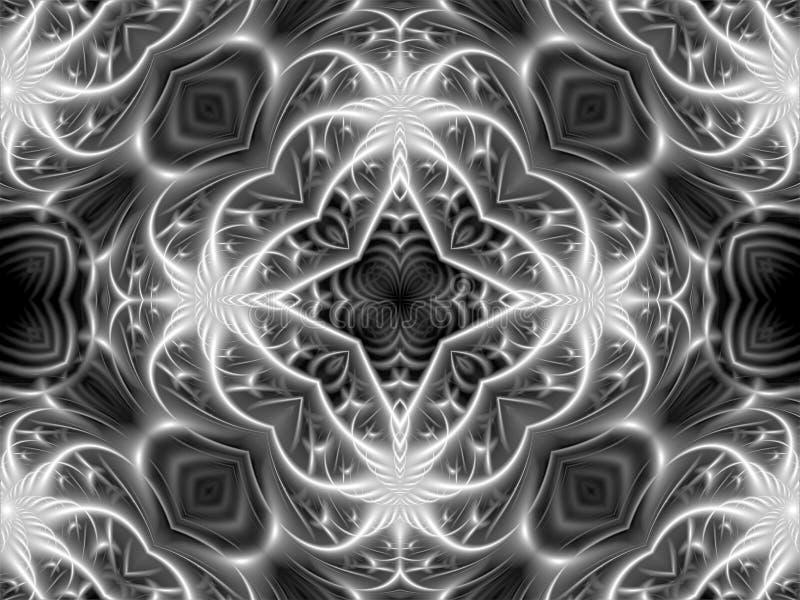 Creatieve abstracte achtergrond die uit het doorweven van stralen van diverse vormen en het vormen van een ster in het centrum va stock afbeelding