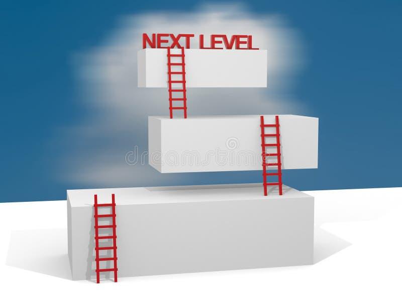 Creatieve abstracte bedrijfsvooruitgang, ontwikkeling, succes, daarna stock illustratie