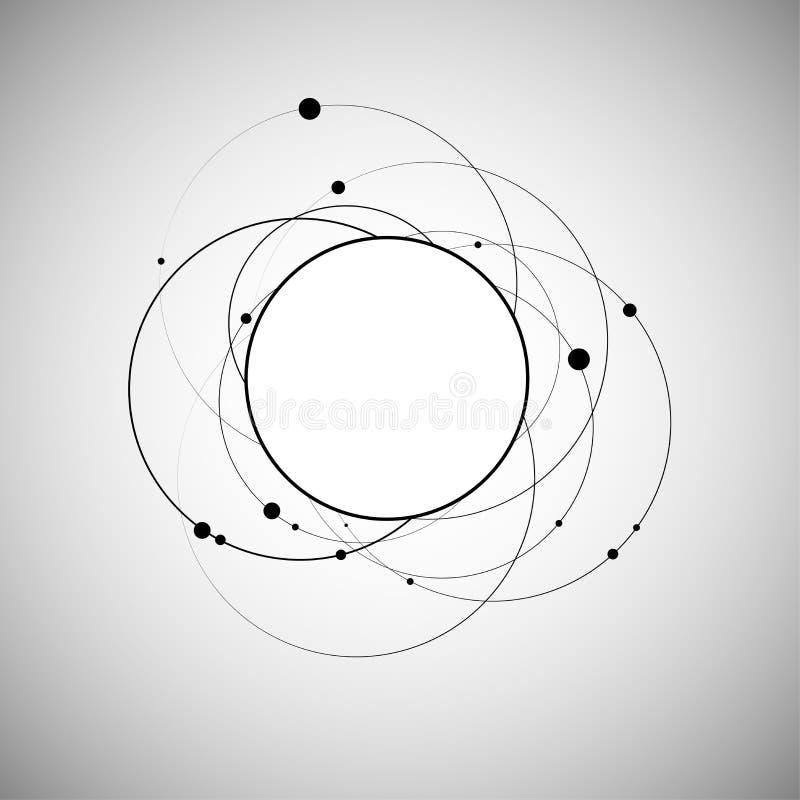 Creatieve abstracte ontwerpachtergrond royalty-vrije illustratie