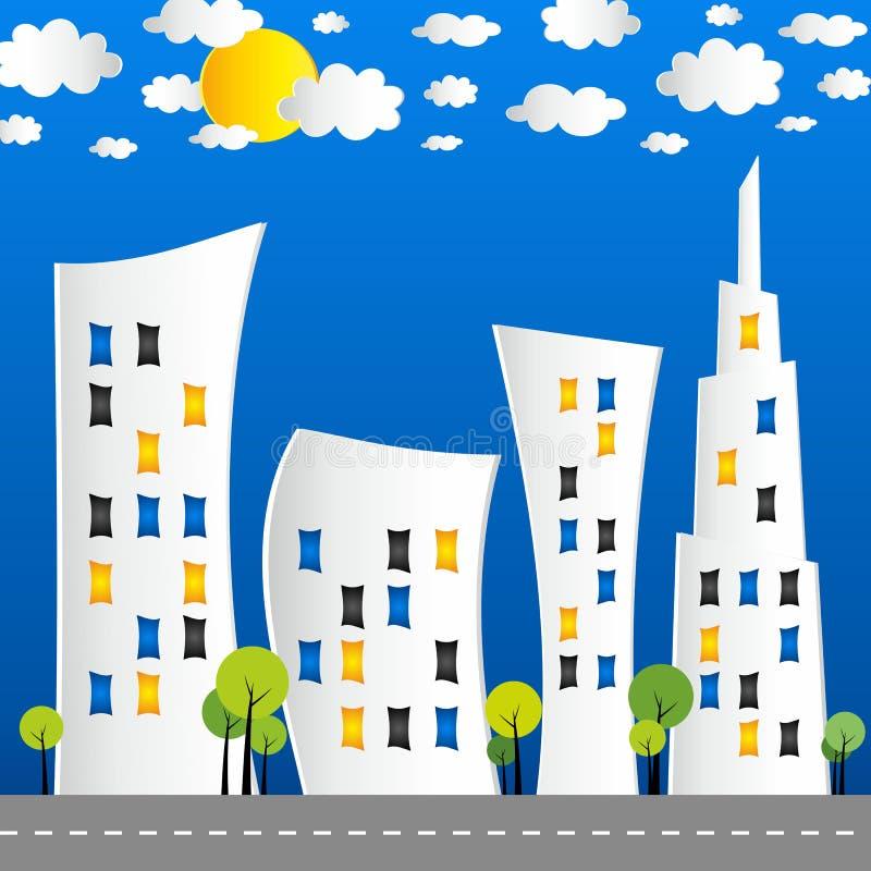 Creatieve abstracte stadsstraat stock illustratie