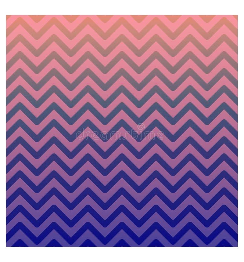 Creatieve abstracte stijlaffiche De roze-purpere gradiëntzigzag geeft achtergrond gestalte Klaar om voor Advertenties, sociale me stock illustratie