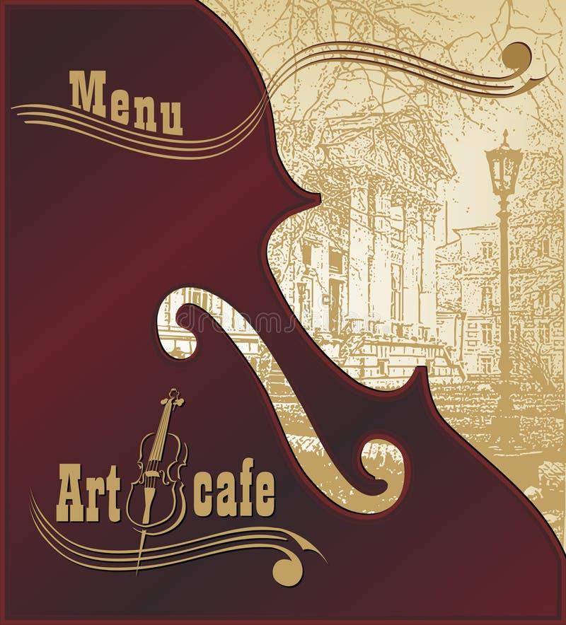 Creatieve achtergrond voor binnen reclame en de clubnacht van de menumuziek stock afbeelding