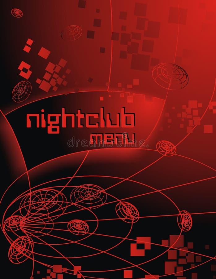 Creatieve achtergrond voor binnen reclame en de clubnacht van de menumuziek royalty-vrije stock afbeeldingen