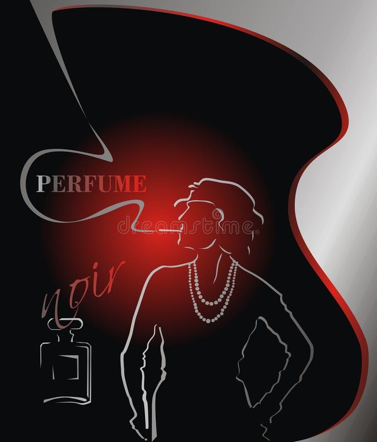 Creatieve achtergrond voor menu modieus reclameparfum stock foto's