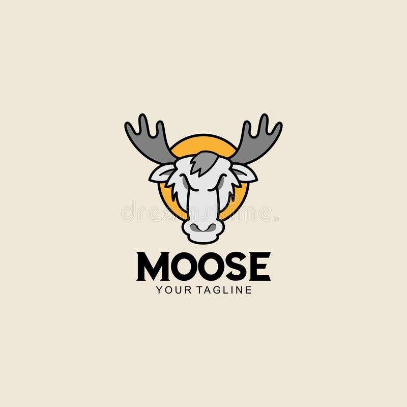 Creatieve Amerikaanse elanden Logo Design Vector Art Logo royalty-vrije illustratie