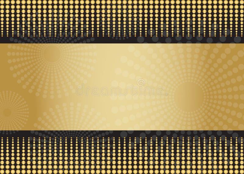 Creatieve bedrijfs gouden kaartmalplaatjes vector illustratie