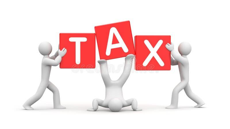 Creatieve belastingsoplossing Douanebelasting royalty-vrije illustratie