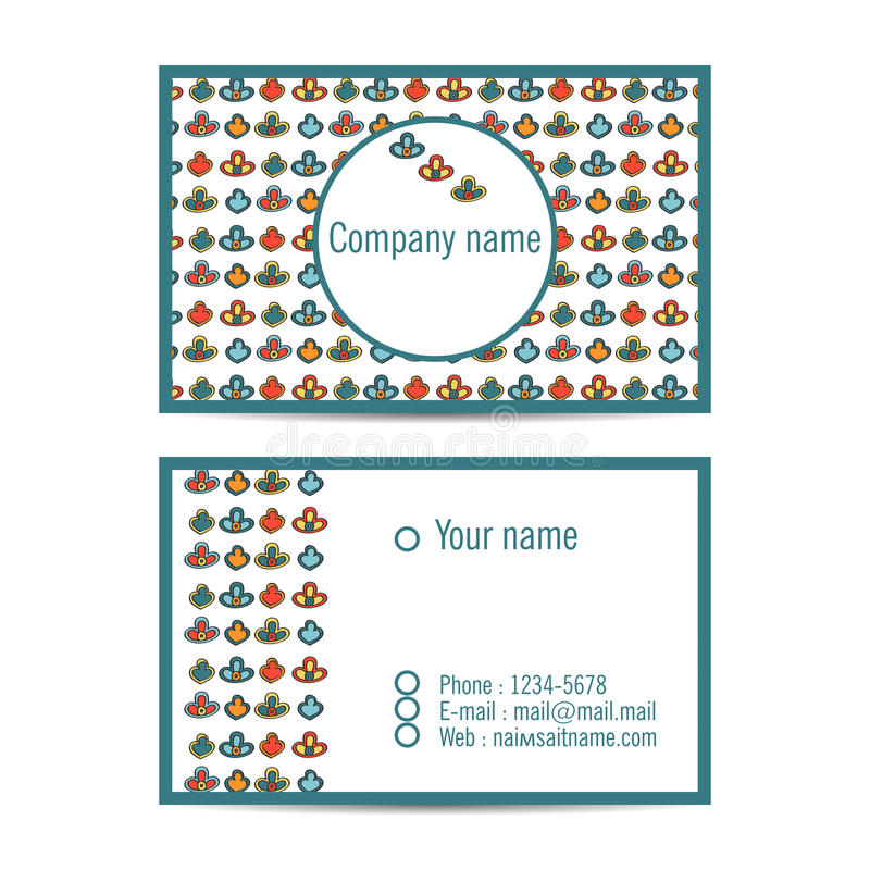 Creatieve bezoekkaart met patroon en ruimte voor informatie vector illustratie