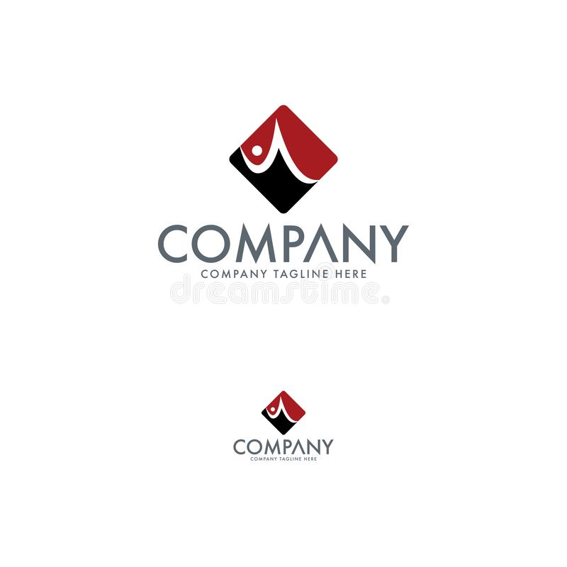 Creatieve Brief Logo Design Template stock illustratie