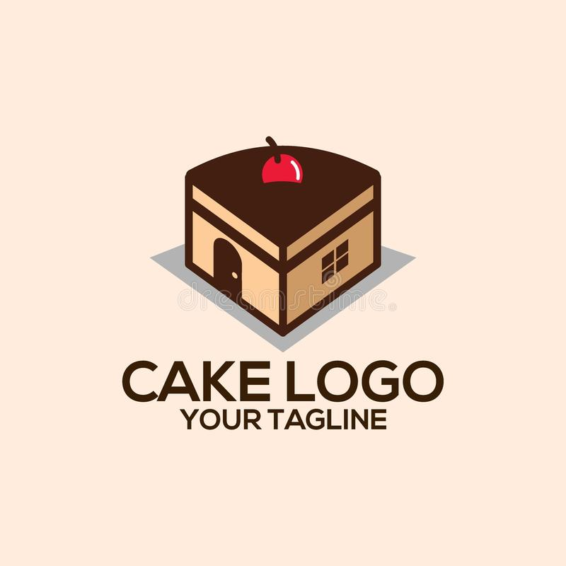 Creatieve Cake Logo Vector Art Logo stock illustratie