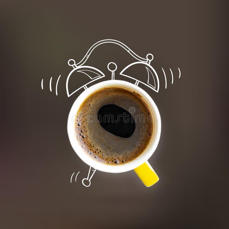 Creatieve de kopwekker van de ideelay-out coffe royalty-vrije illustratie