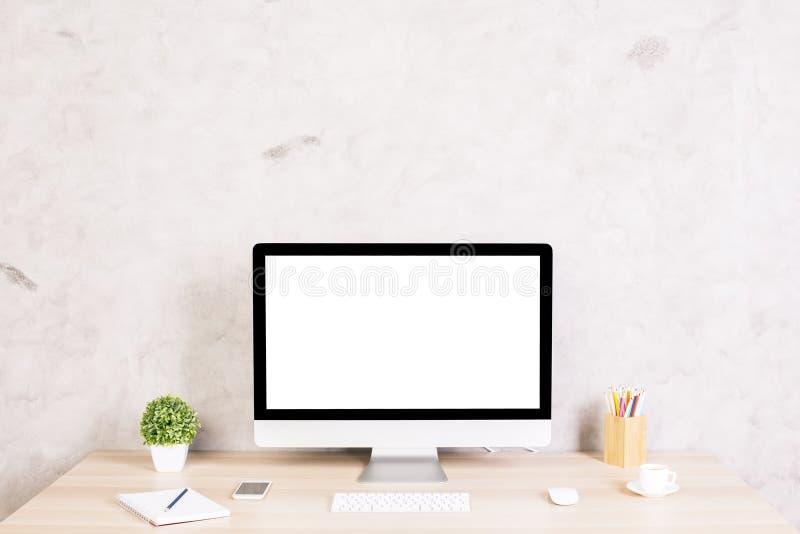 Creatieve Desktopvoorzijde royalty-vrije stock foto's