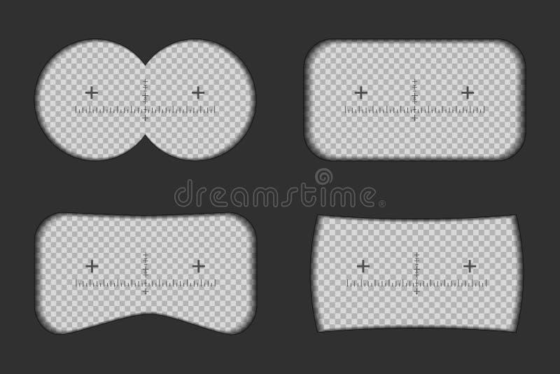 Creatieve die illustratie van verrekijkersmening met tekens op transparante achtergrond worden geïsoleerd Het ontwerp van de kuns stock illustratie
