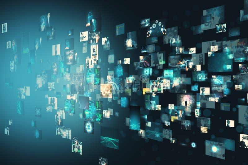 Creatieve digitale afbeeldinggalerij stock illustratie