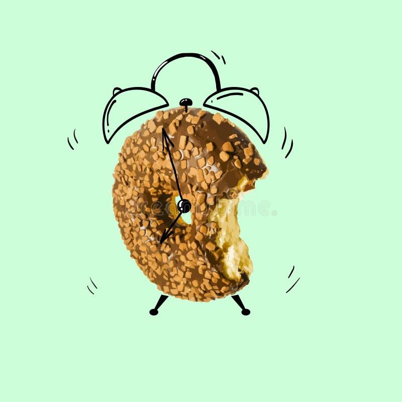 Creatieve doughnutwekker stock illustratie
