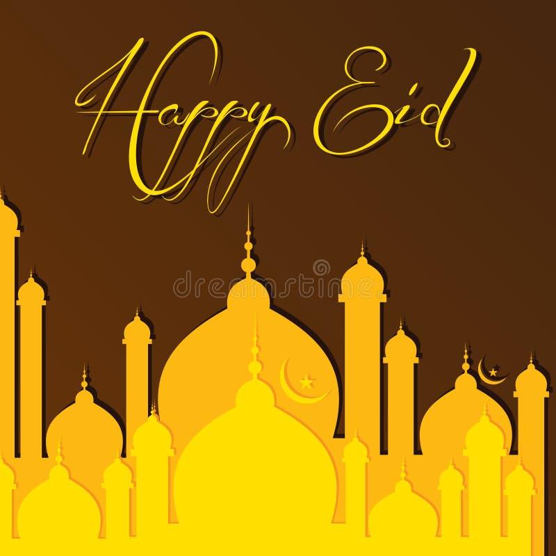Creatieve Eid-groet vector illustratie