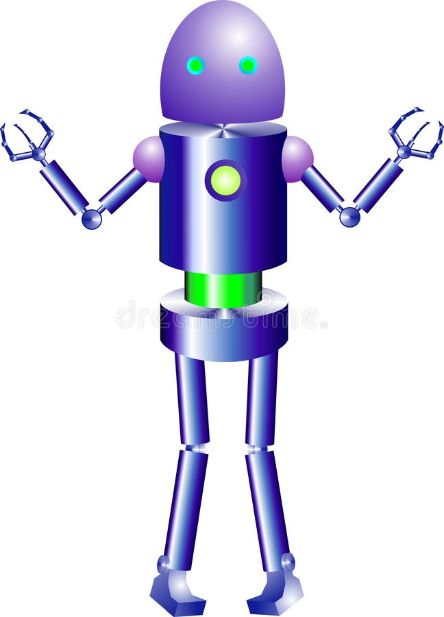 Creatieve en intelligente robots stock afbeeldingen