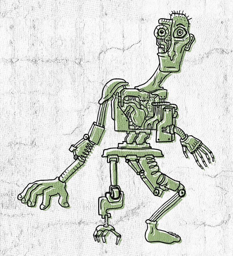 Creatieve fantasierijke androide vector illustratie