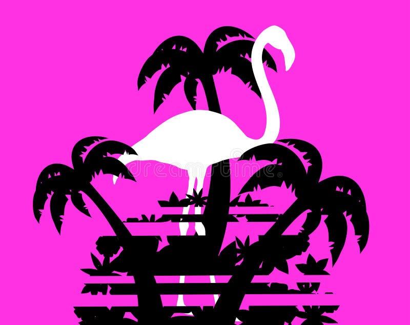 Creatieve flamingo stock illustratie
