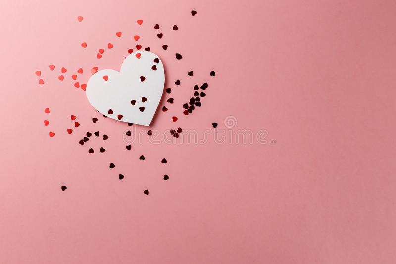 Creatieve foto De prentbriefkaar van de Dag van de valentijnskaart `s De dagachtergrond van Valentine ` s stock foto