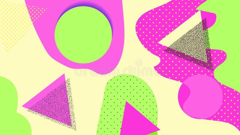 Creatieve geometrische achtergrond met vormen en verschillende texturen collage Ontwerp voor affiche, kaart, uitnodiging, aanplak royalty-vrije illustratie