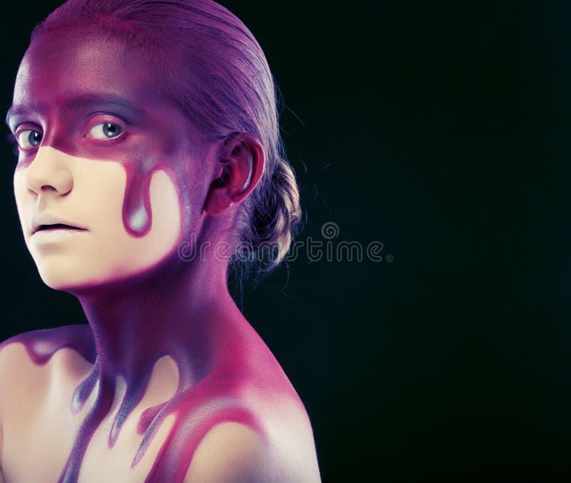 Creatieve gezicht-kunst stock afbeelding