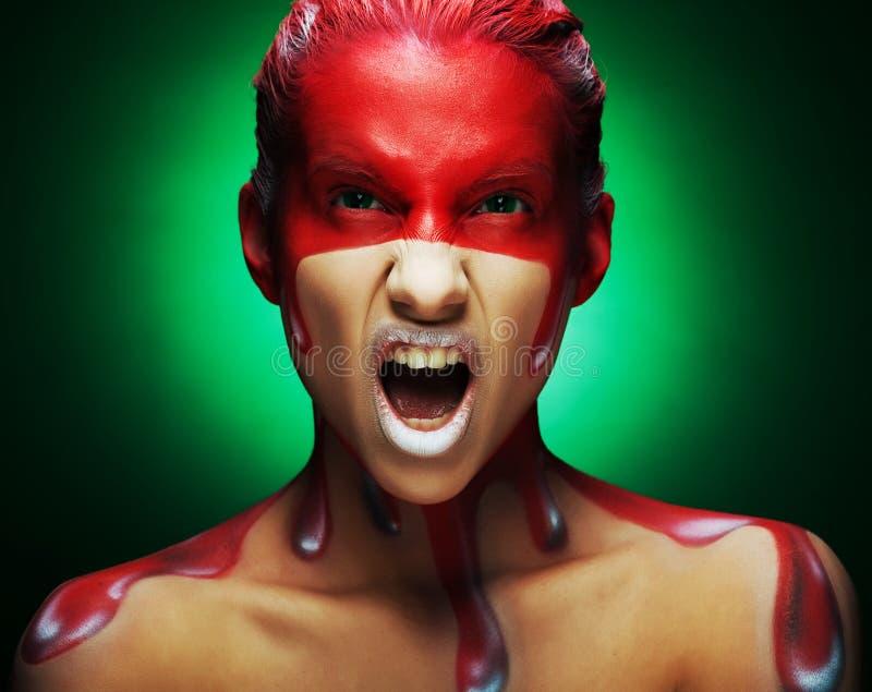 Creatieve gezicht-kunst royalty-vrije stock foto's