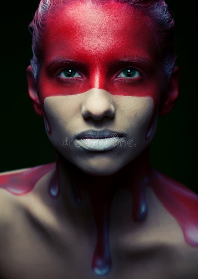 Creatieve gezicht-kunst stock afbeeldingen