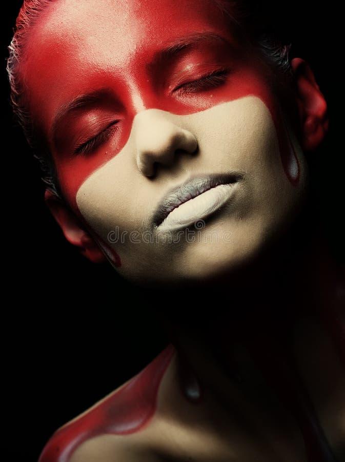 Creatieve gezicht-kunst royalty-vrije stock afbeeldingen