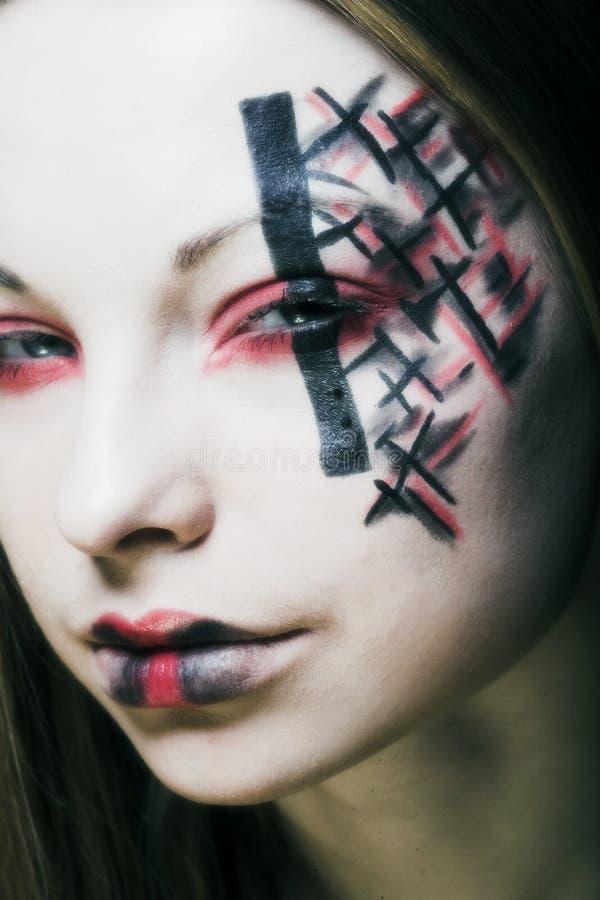 Creatieve gezichtsverf stock fotografie