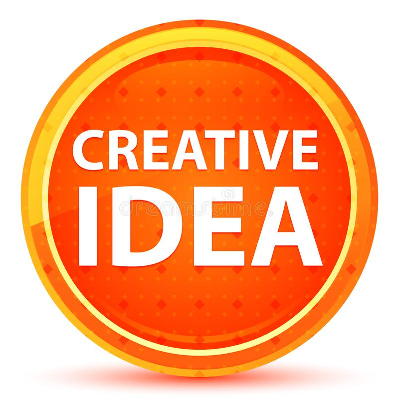 Creatieve Idee Natuurlijke Oranje Ronde Knoop stock illustratie