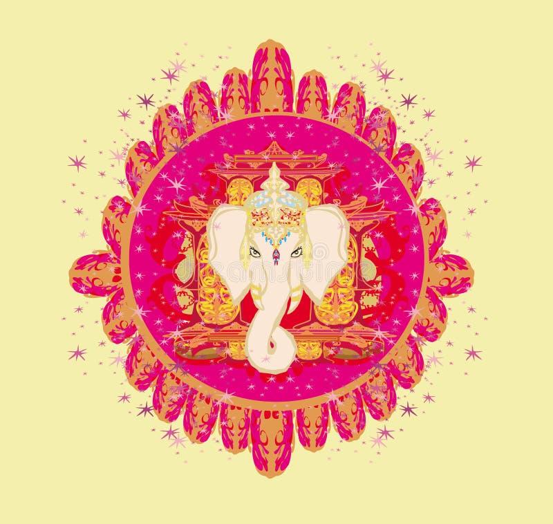 Creatieve illustratie van Hindoes Lord Ganesha stock illustratie