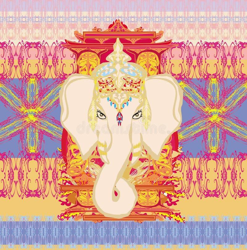 Creatieve illustratie van Hindoes Lord Ganesha royalty-vrije illustratie