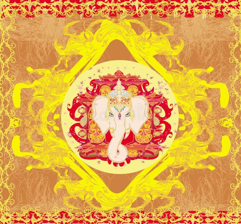 Creatieve illustratie van Hindoes Lord Ganesha vector illustratie