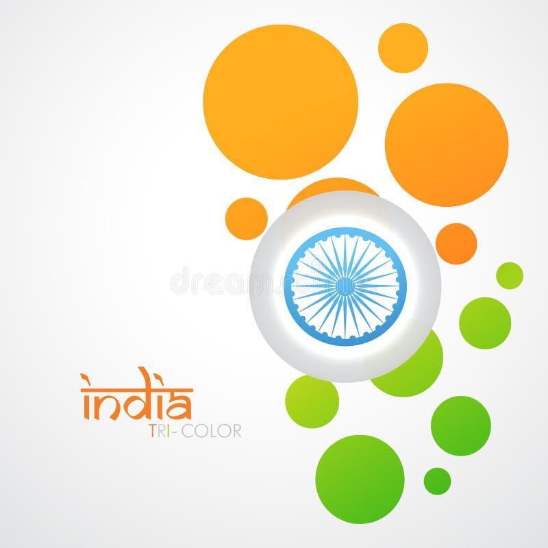 Creatieve Indische vlag royalty-vrije illustratie